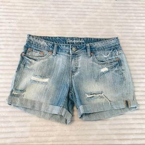 Aeropostale Boyfriend Distressed MIDI Shorts 6 28
